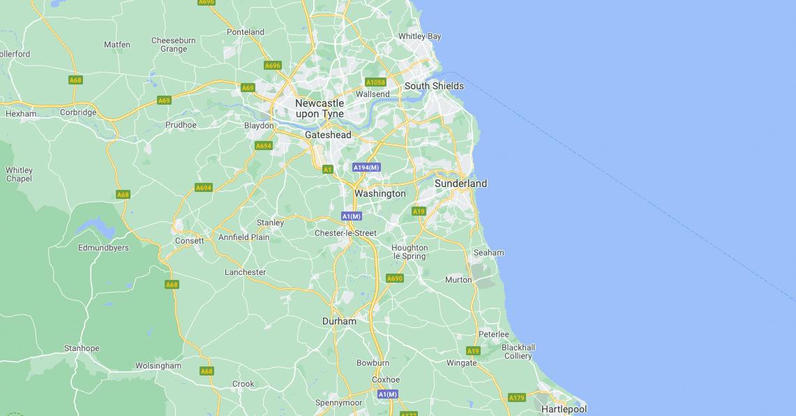 Sunderland map
